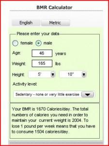Calculate BMR